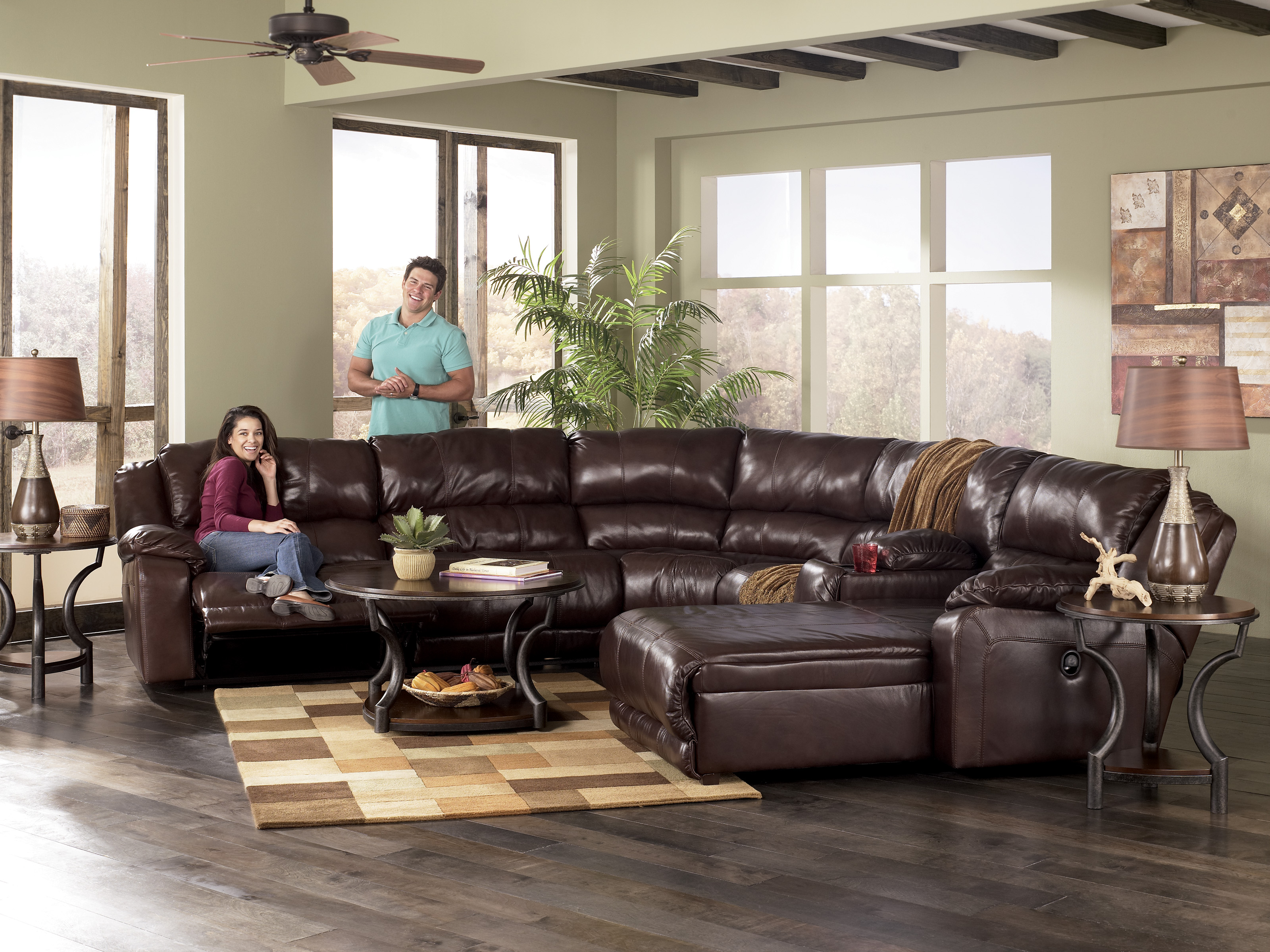 Ashley Furniture Braxton Leather Sectional 3200 x 2400